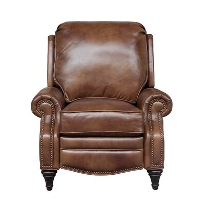 Avery Leather Manual Recliner Upholstery: Wenlock Tawny