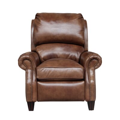 Churchill Leather Manual Recliner Upholstery: Brown