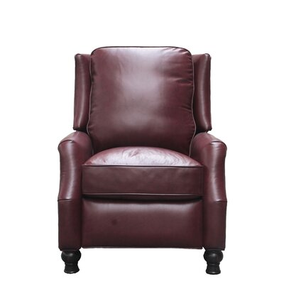Emmaleigh Leather Manual Recliner Upholstery: Wine