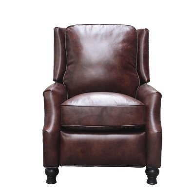 Emmaleigh Leather Manual Recliner Upholstery: Fudge