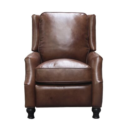 Emmaleigh Leather Manual Recliner Upholstery: Tawny