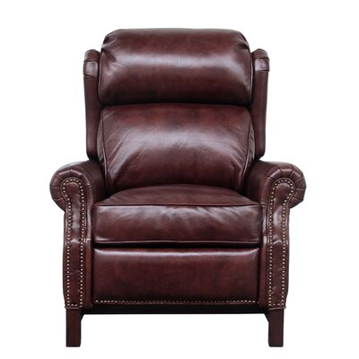 Jazzmyn Leather Manual Recliner Upholstery: Fudge