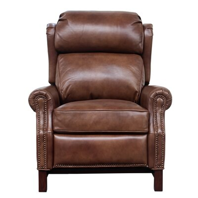 Jazzmyn Leather Manual Recliner Upholstery: Tawny