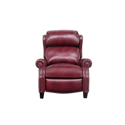 Lenhardt Leather Manual No Motion Recliner Upholstery: Carmine