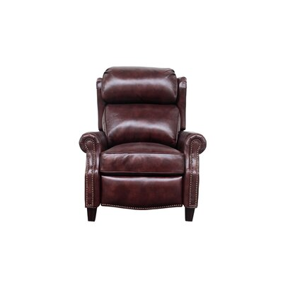 Lenhardt Leather Manual No Motion Recliner Upholstery: Fudge