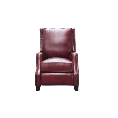 Ains Leather Manual No Motion Recliner Upholstery: Carmine