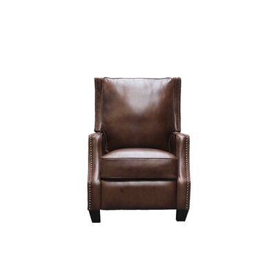 Ains Leather Manual No Motion Recliner Upholstery: Tawny