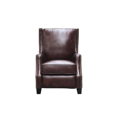 Ains Leather Manual No Motion Recliner Upholstery: Fudge