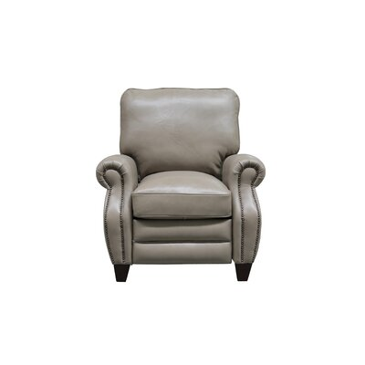 McMullen Leather Manual Recliner Upholstery: Wenlock Taupe