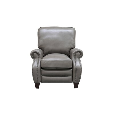 McMullen Leather Manual Recliner Upholstery: Wenlock Dark Taupe