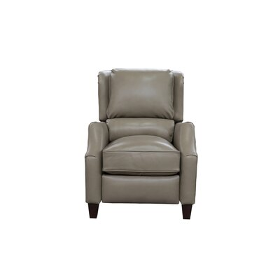 Treiber Leather Manual Recliner Upholstery: Wenlock Taupe