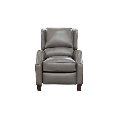Treiber Leather Manual Recliner Upholstery: Wenlock Dark Taupe