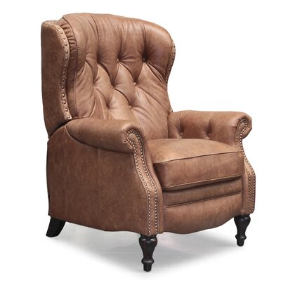 Vintage Kendall Leather Manual Recliner