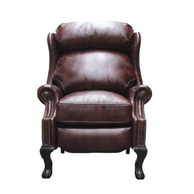 Danbury Leather Manual No Motion Recliner Upholstery: Fudge