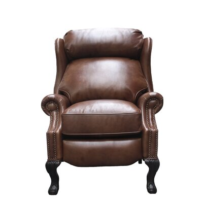 Danbury Leather Manual No Motion Recliner Upholstery: Tawny