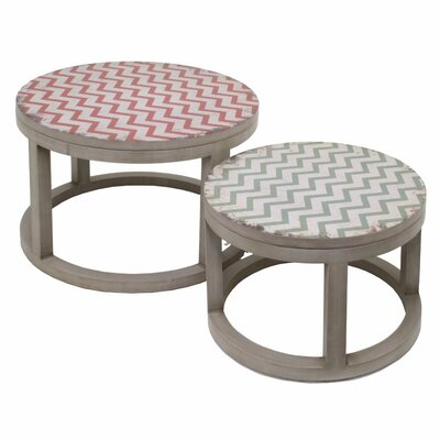 Burnestown Wood 2 Piece Nesting Tables