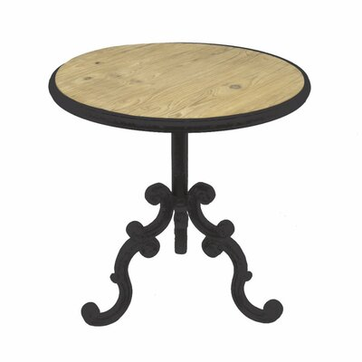 Vinit Carved Metal End Table
