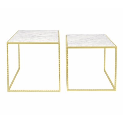 Avillion Metal 2 Piece Nesting Tables