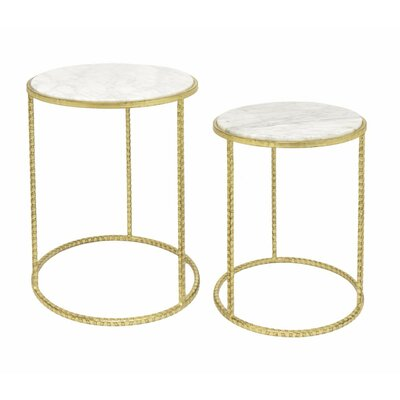 Avis Metal 2 Piece Nesting Tables