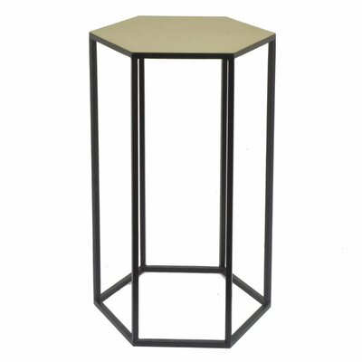 Deutsch Contemporary Hexagonal Metal End Table