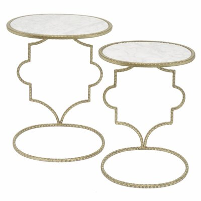 Azaria Metal 2 Piece Nesting Tables
