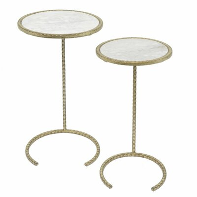Gabel Round Metal 2 Piece Nesting Tables