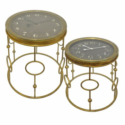 Desousa Functional Clock 2 Piece Nesting Tables