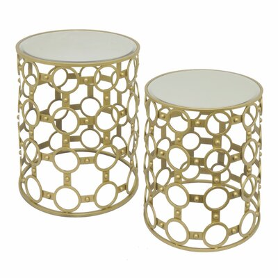 Ayana Metal 2 Piece Nesting Tables