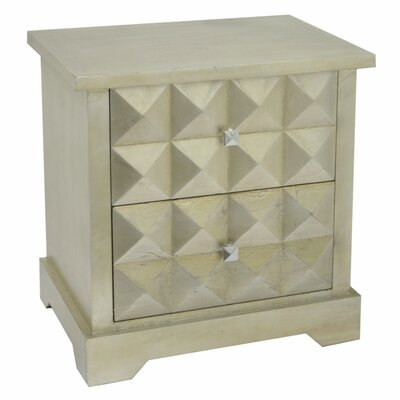 Jawad Wood 2 Drawer Accent Chest