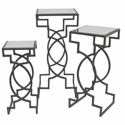 Demetri Mirror Top 3 Piece Nesting Tables