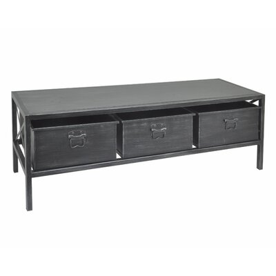 Liara Metal Coffee Table Finish: Black