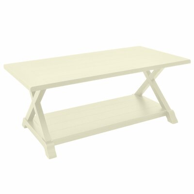 Padmasini Wood Coffee Table Finish: White
