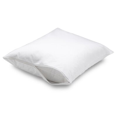 Waterproof Allergy Protection Zippered Pillow Protector Size: King