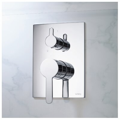 Series 180 Integrated Volume Control Thermostatic Valve Finish: Chrome