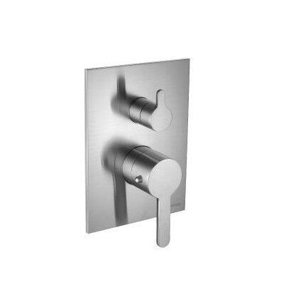 Series 180 Integrated Volume Control Thermostatic Valve Finish: Brushed Nickel