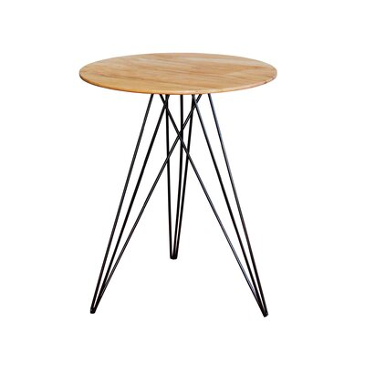 Hudson End Table Base Color: Black, Top Color: Maple