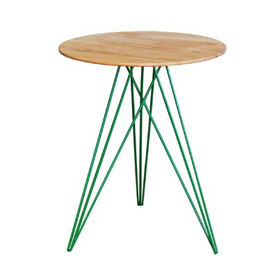 Hudson End Table Base Color: Green, Top Color: Maple