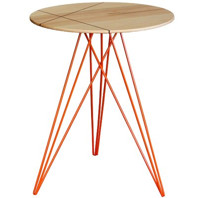 Hudson End Table Base Color: Orange, Top Color: Maple