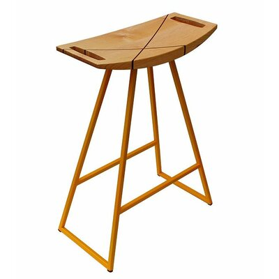 Roberts 18 Bar Stool Upholstery: Walnut, Base Finish: Yellow