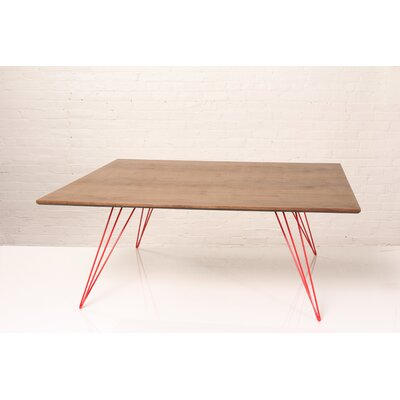 Williams Coffee Table Size: 18 H x 46 W x 46 D, Color: Red