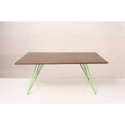 Williams Coffee Table Finish: Green, Size: 18 H x 23 W x 54 D