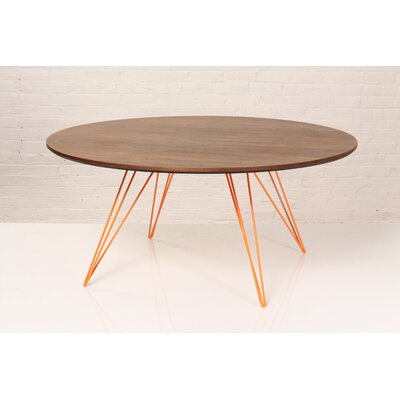 Williams Coffee Table Size: 18 H x 46 W x 46 D, Color: Orange