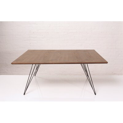 Williams Coffee Table Size: 18 H x 40 W x 40 D, Color: Black