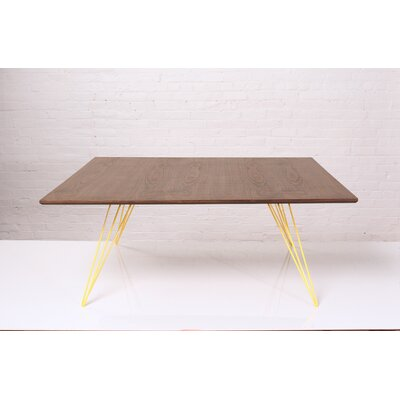 Williams Coffee Table Size: 18 H x 40 W x 40 D, Color: Yellow