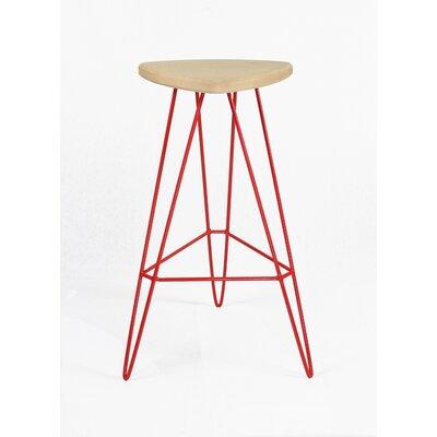 Madison Bar Stool Seat Finish: Maple, Base Color: Red