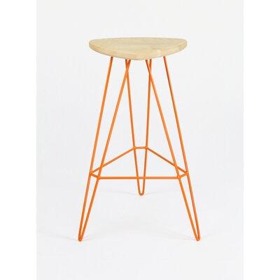 Madison Bar Stool Seat Finish: Maple, Base Color: Orange
