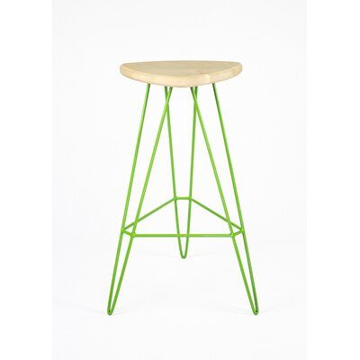 Madison Bar Stool Base Color: Green, Seat Finish: Maple
