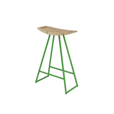 Roberts 24 Bar Stool Base Color: Green, Upholstery: Maple