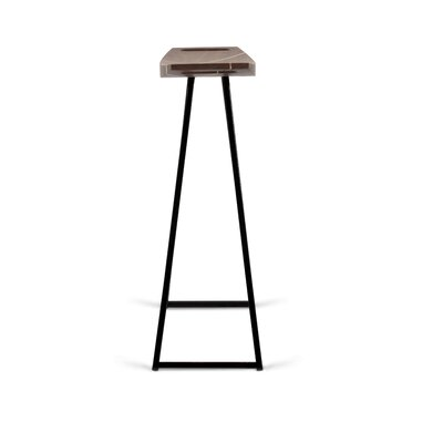 Roberts 24 Bar Stool Base Color: Black, Upholstery: Walnut