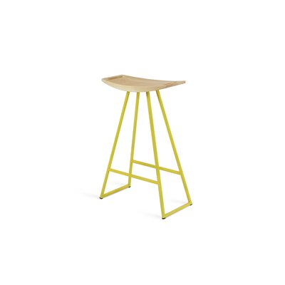 Roberts 24 Bar Stool Upholstery: Maple, Base Finish: Yellow